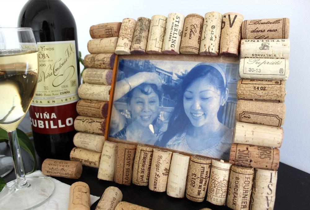 Bingkai Foto Lucu tutup wine