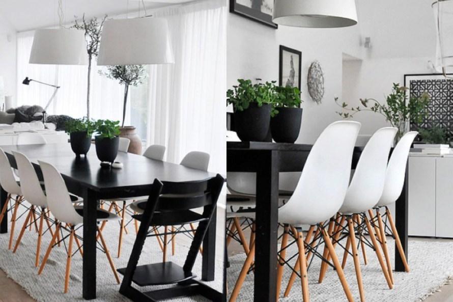Desain Ruang Makan Monokrom