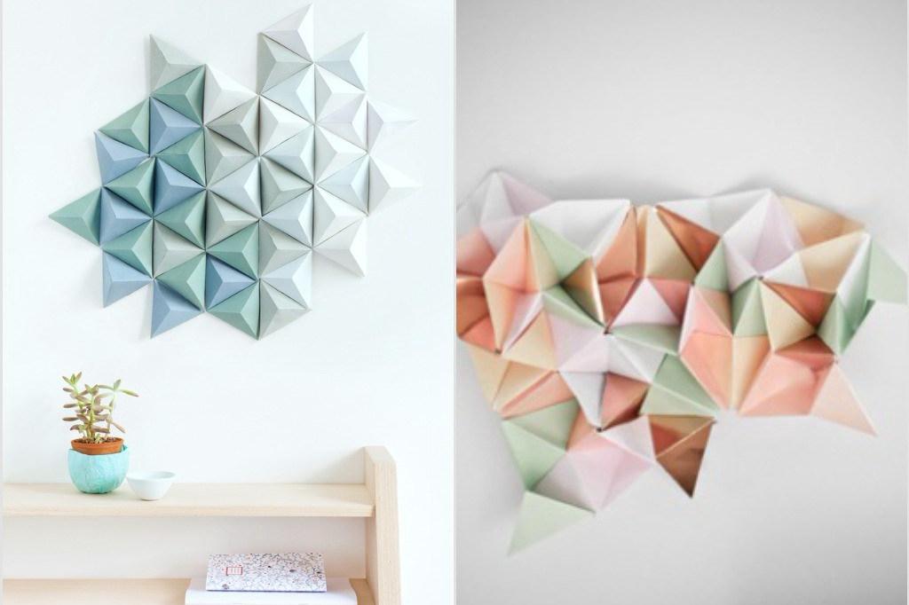Contoh Hiasan Dinding Kelas Dari Kertas Origami Berbagi