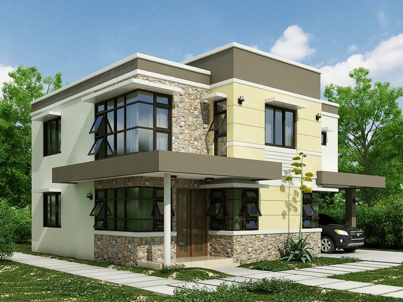 Rumah Batu Alam Minimalis