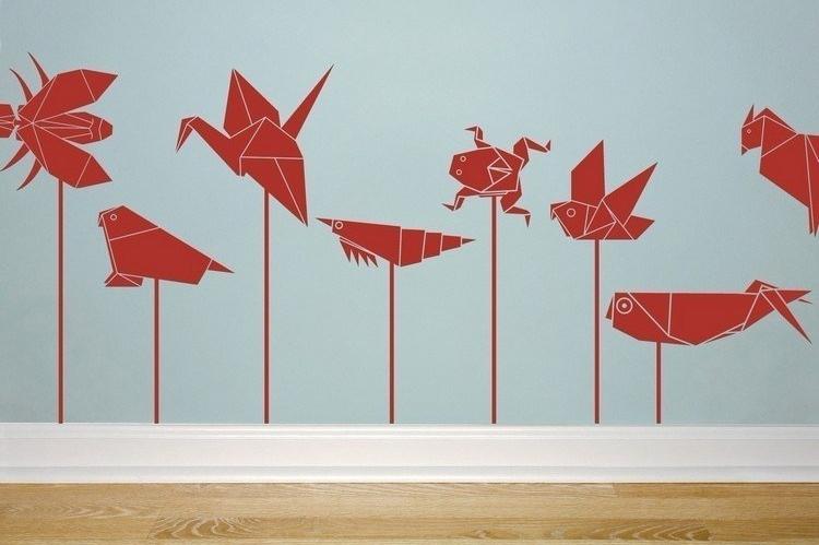 cara membuat hiasan dinding kamar dari kertas origami bentuk binatang