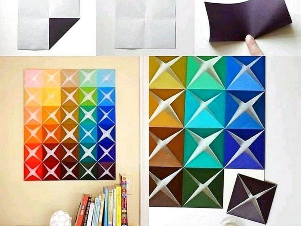 cara membuat hiasan dinding kamar origami