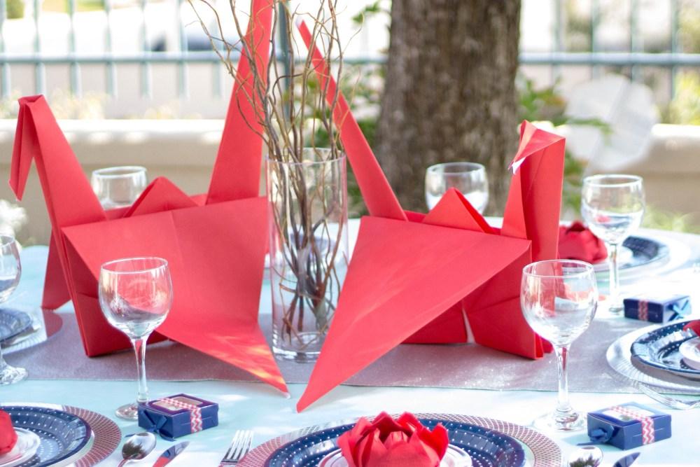 Dekorasi Pernikahan Origami