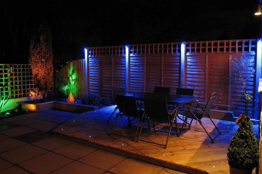 Dekorasi Lampu LED Rumah Pada Taman