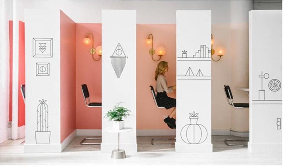 ruangan kantor kubikel
