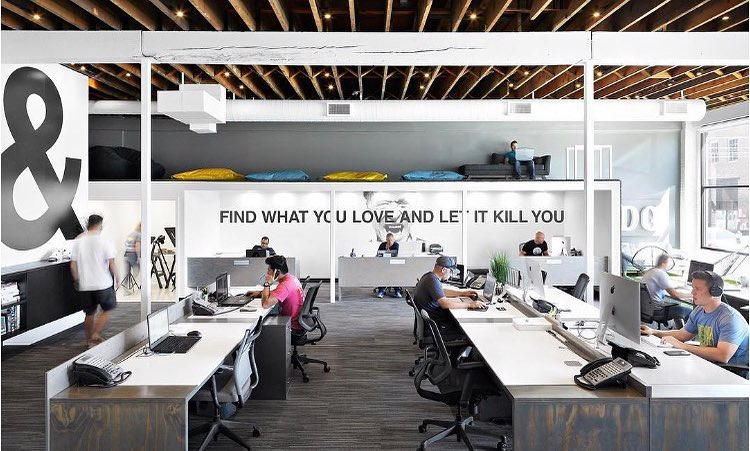 ruangan kantor dekorasi motivasi