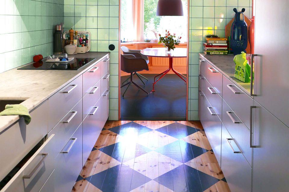 Hijau Mint Warna Keramik Dapur