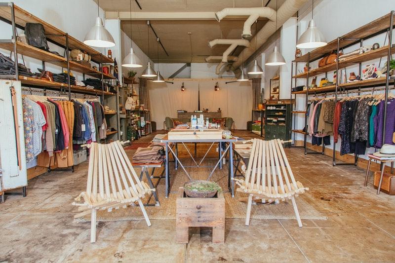 desain toko kecil industrial