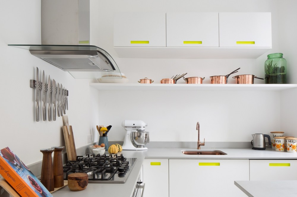 Putih warna cat interior rumah dapur