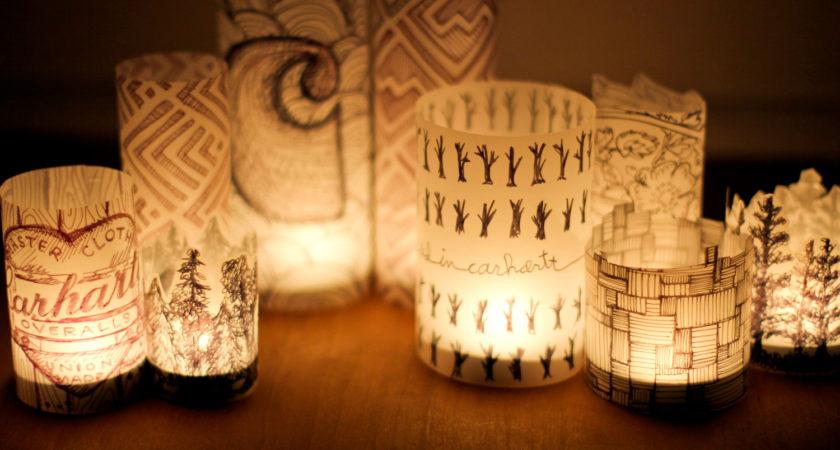 Dekorasi Lampu Taman dari Kertas