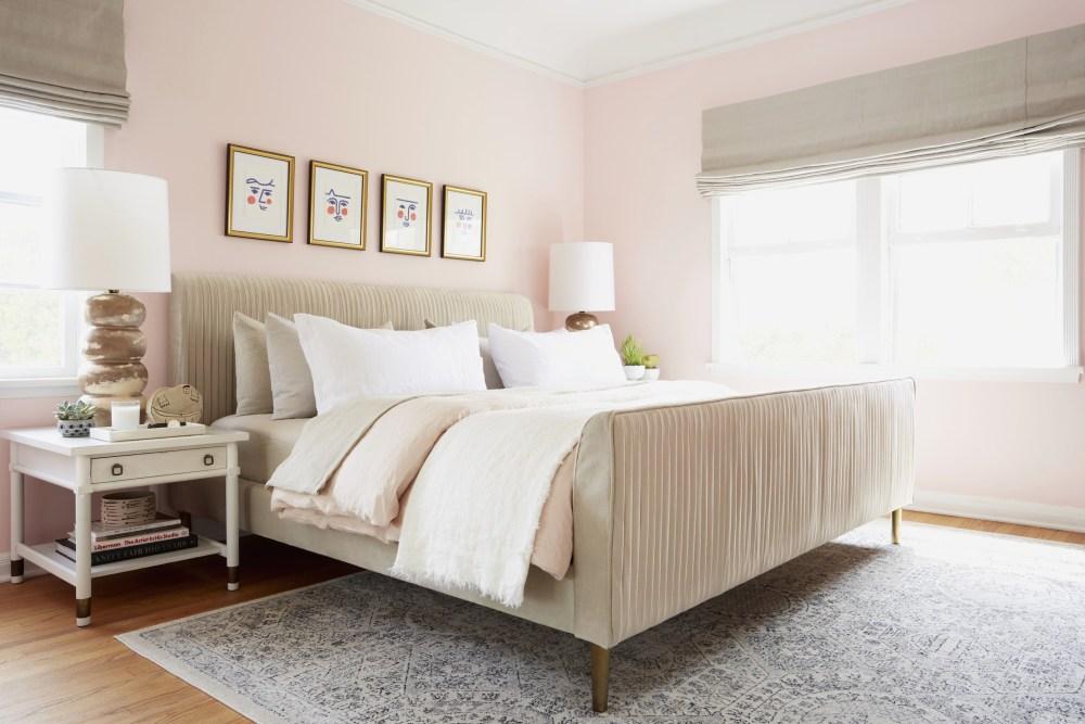 Pink warna cat interior rumah kamar tidur