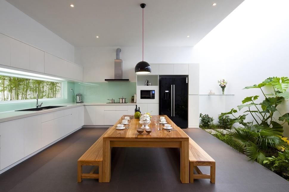 Desain Dapur Dan Ruang Makan Kebun Mini