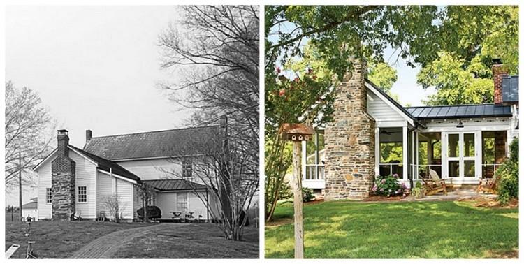 Rumah tua yang direnovasi menjadi memiliki area terbuka
