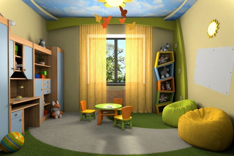 Ide plafon kamar dengan nuansa alam bebas