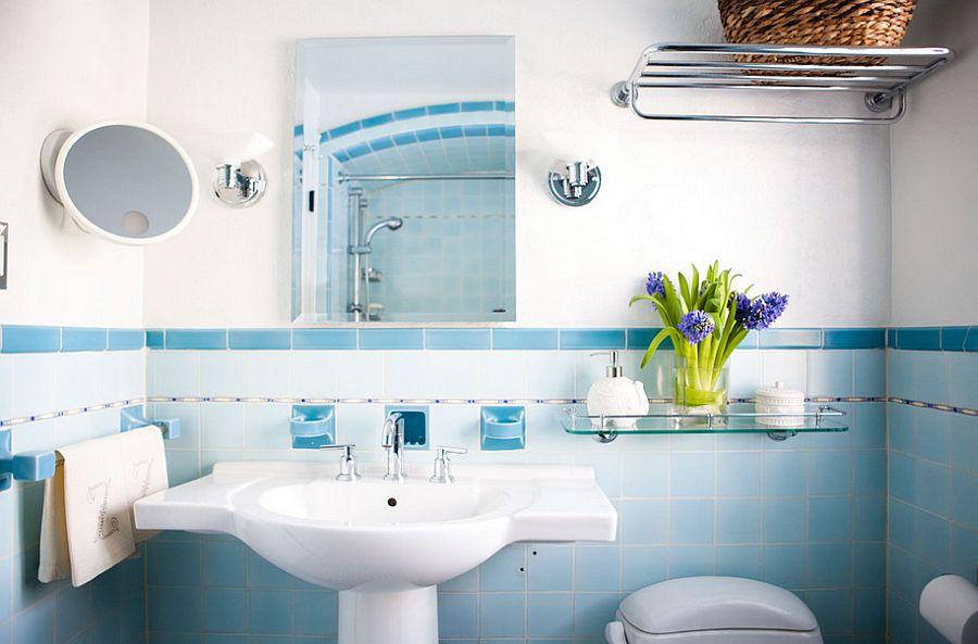 Gradasi warna keramik kamar mandi