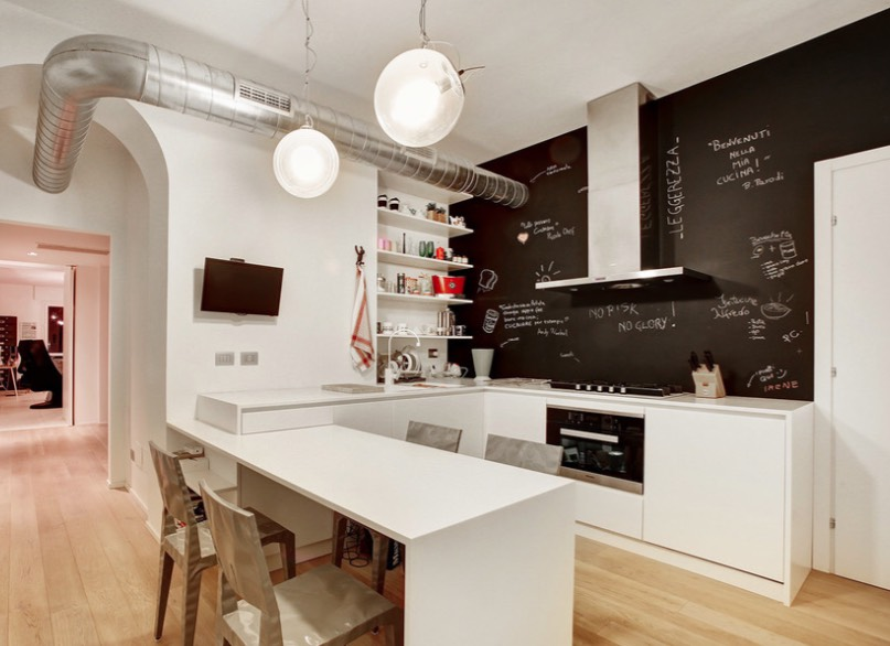 Kombinasi warna cat rumah dengan cat papan tulis