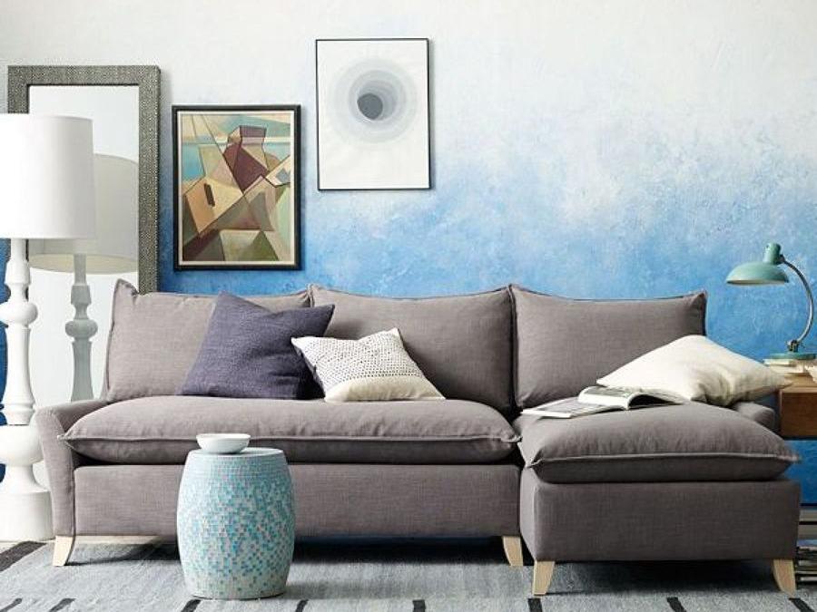Kombinasi warna cat rumah denga n teknik ombre