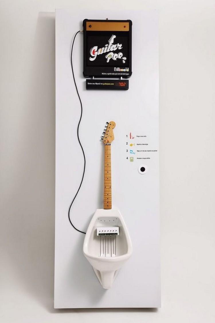 Desain kloset berbentuk gitar