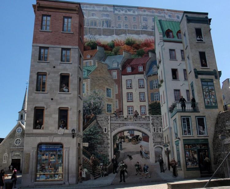 Gambar mural Fresque des Québécois