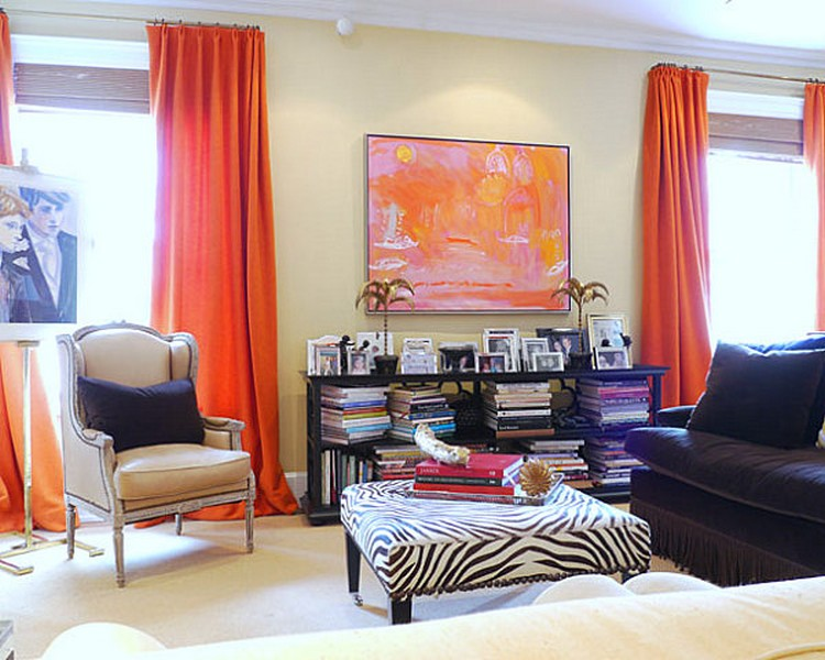 Tirai panjang warna salem