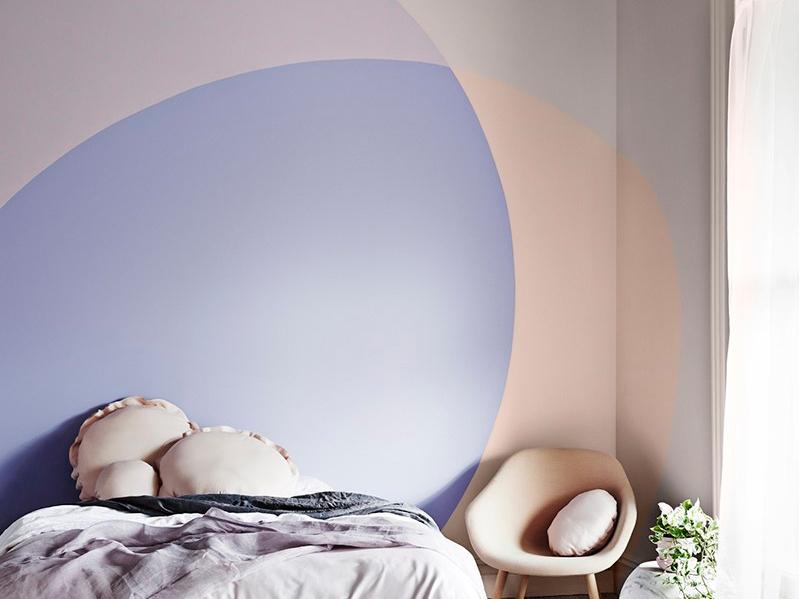 Kombinasi warna cat rumah dengan pola oval