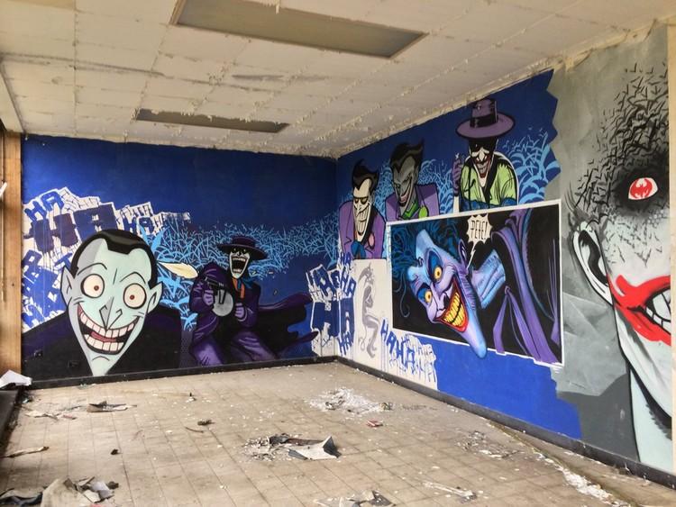 Gambar mural di Ronse, Belgia