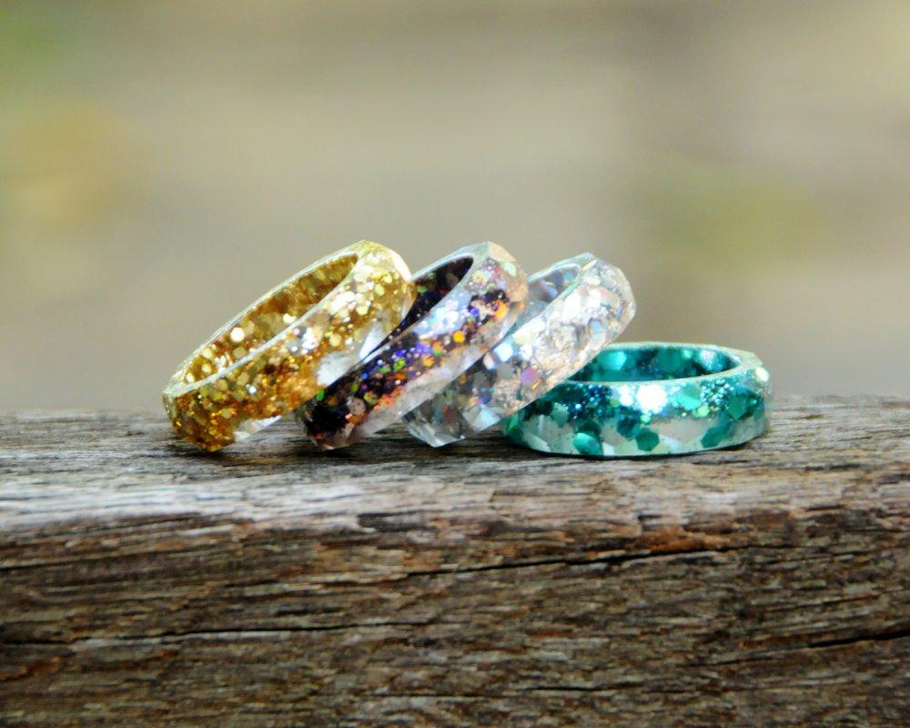 Cincin Glitter Resin