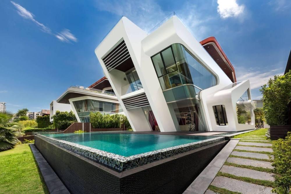 Desain Rumah Kontemporer dengan Permainan Sudut