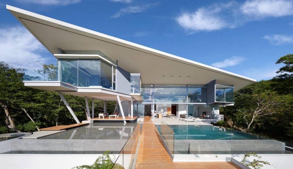 Desain Futuristik pada Rumah Kontemporer