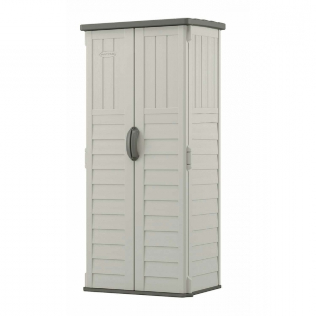 Gorgeous Suncast 97 Gal Resin Outdoor Patio Cabinet