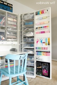 Picture of Craft Room Tour Craft Cabinet Awesome And ...