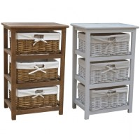 Remarkable Cool Storage Cabinet With Baskets On Grey