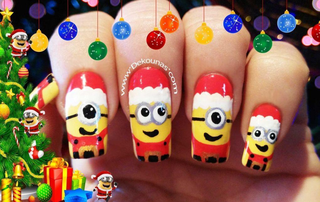 Decoración de uñas minions navidad2-2