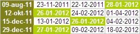 Draaipunten Spiral Calendar