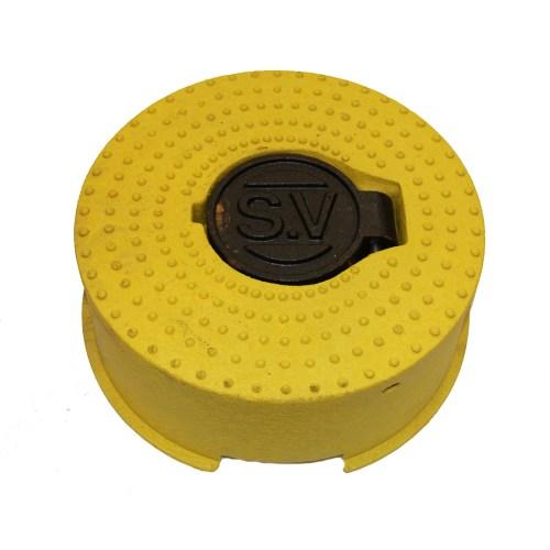 Sluice Valve Cover Rnd Yellow