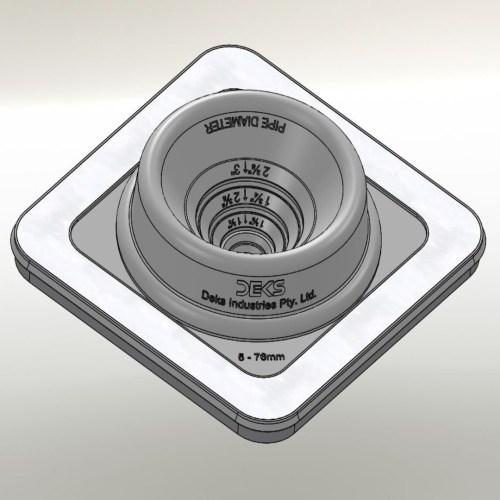 Dektite Ezi Seal Blk (5-76mm/0.25-3'')