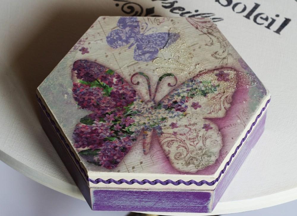 Pudełko sześciokątne Violette