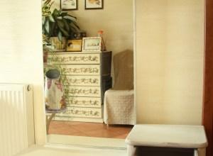 toaletka vintage lawenda farby kredowe