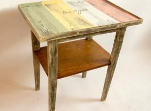 stolik, odnawianie mebli, farba kredowa