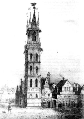 St.-Baafsplein 14e eeuw ?- 18eeuwse pentekening