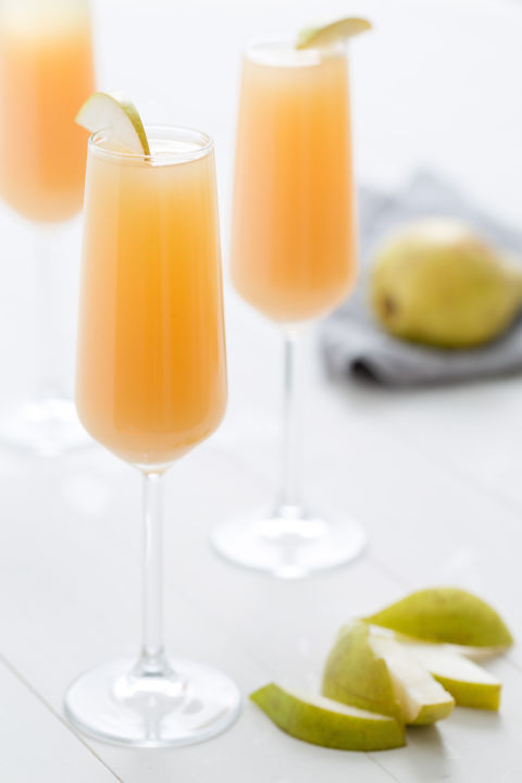 On its own, pear nectar can be a little, well, thick. But cut it with 2 parts dry champagne and you're in business. Get the recipe from Delish.