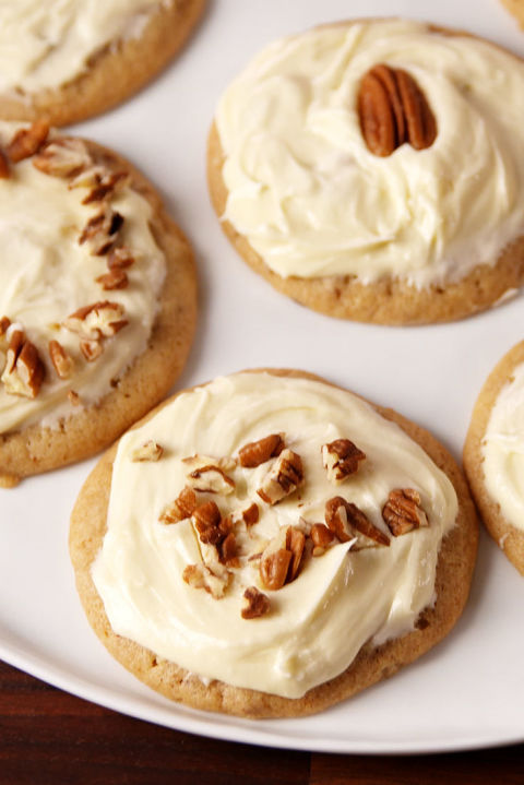 Buttery cookies smothered with a maple frosting = HEAVEN. Get the recipe from Delish.