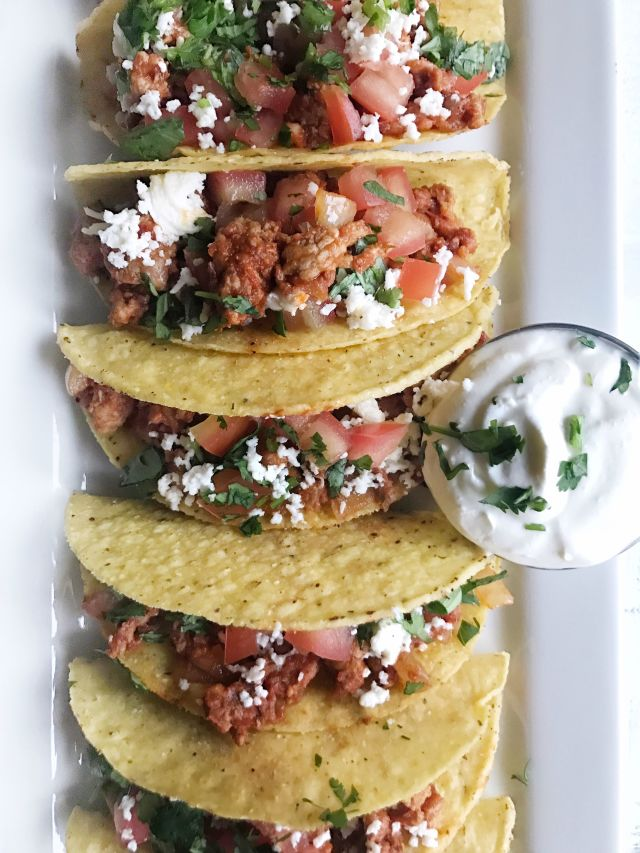 Spicy Turkey Tacos Vertical