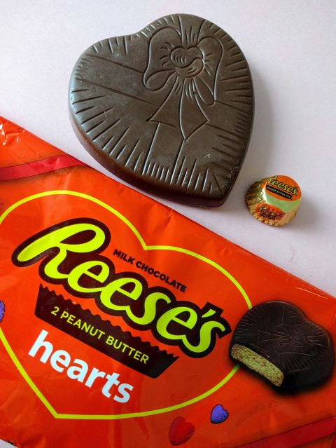The friend who loves the peanut-butter-to-chocolate ratio of traditional Reese's eggs and hearts will freak out over these XXL ones. They're sold in packs of two, and each one's the size of your hand. Just don't tell your pal about the cals — a single heart clocks in at a whopping 1,200 calories. Candy Warehouse, $20