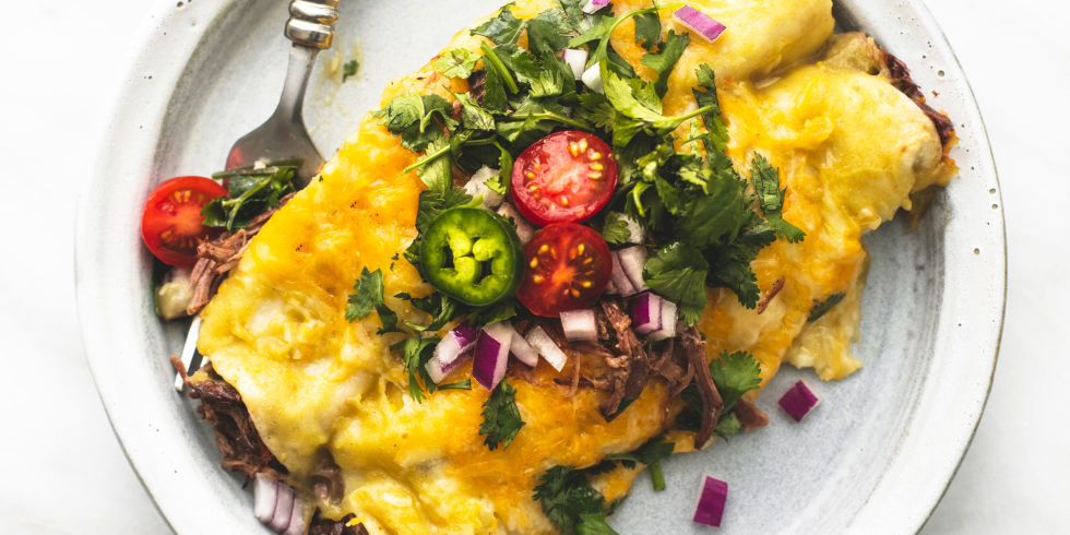 Shredded Beef Enchiladas Horizontal