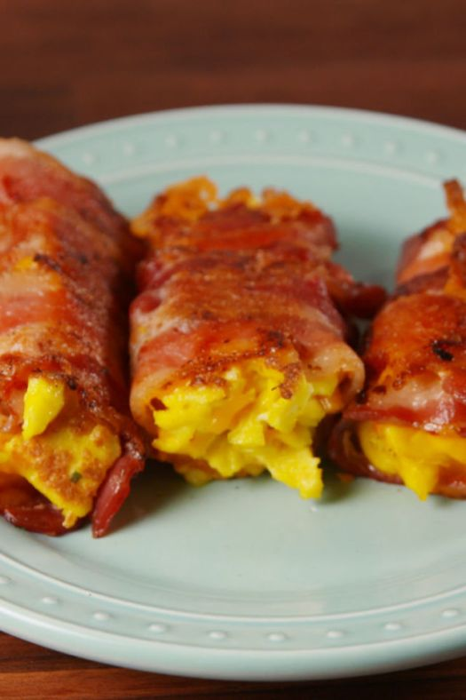 Bacon, Egg & Cheese Roll Ups Vertical