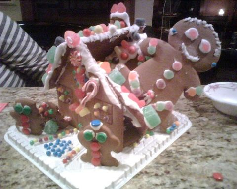 Gingerbread House Wreck Pictures Gingerbread House Disasters