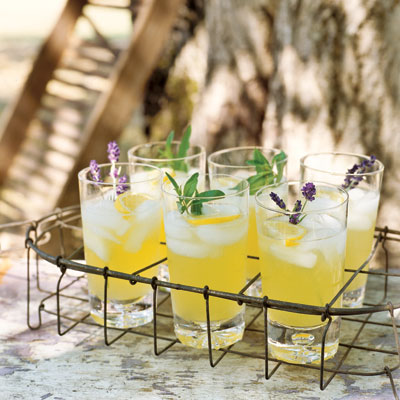 Floral-scented herbs, such as lavender and lemon verbena, add subtle depth to fruit ades and iced tea.