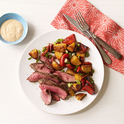 Flank Steak with Smokey Roasted Potatoes