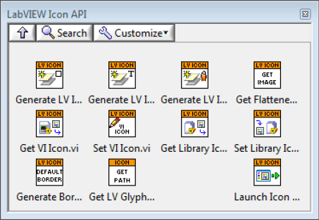 LabVIEW Icon API – Hidden Gem palette